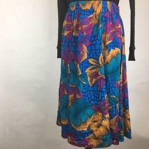 Maggie Sweet Vintage Colorful Patterned Skirt